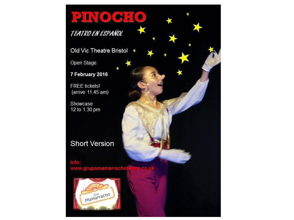 Flyer Pinocho Old Vic